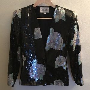 Black and Silver Vintage Blazer